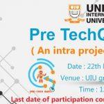 Pre TechQuest'17 ( An intra University project showcase)