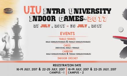 UIU Intra University Indoor Games- 2017